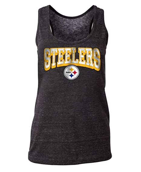 06cec290f Image Unavailable. Image not available for. Color  New Era Pittsburgh  Steelers Women s NFL Downfield Racerback Tank Top Shirt