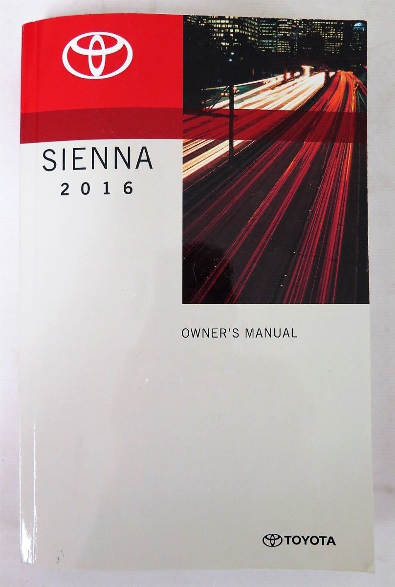 2016 Toyota Sienna Owner Manual