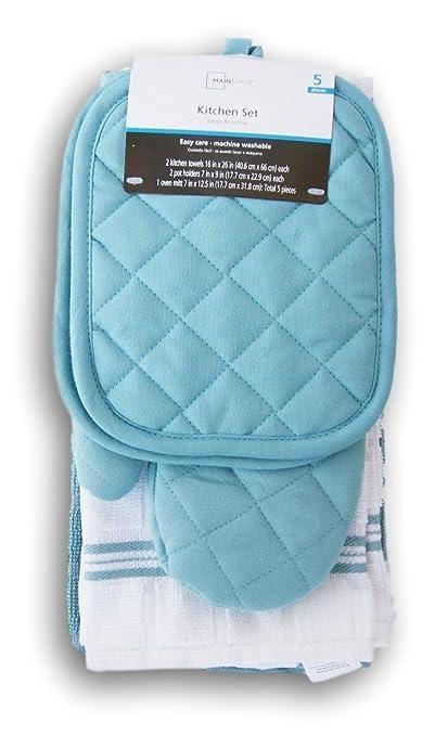 e2120d5cca5 Amazon.com  Topaz Kitchen Towel Set 5 Piece - Pot Holders