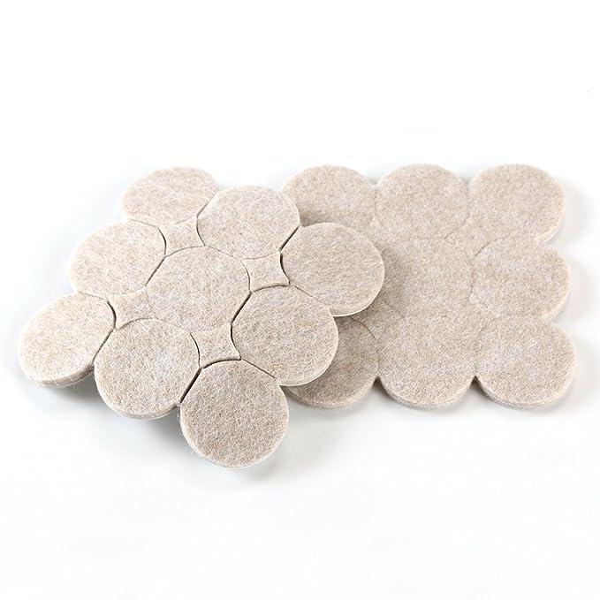 OUNONA Almohadillas de Fieltro Rondas Adhesivas para Muebles Di/ámetro 2.7cm 36 Piezas