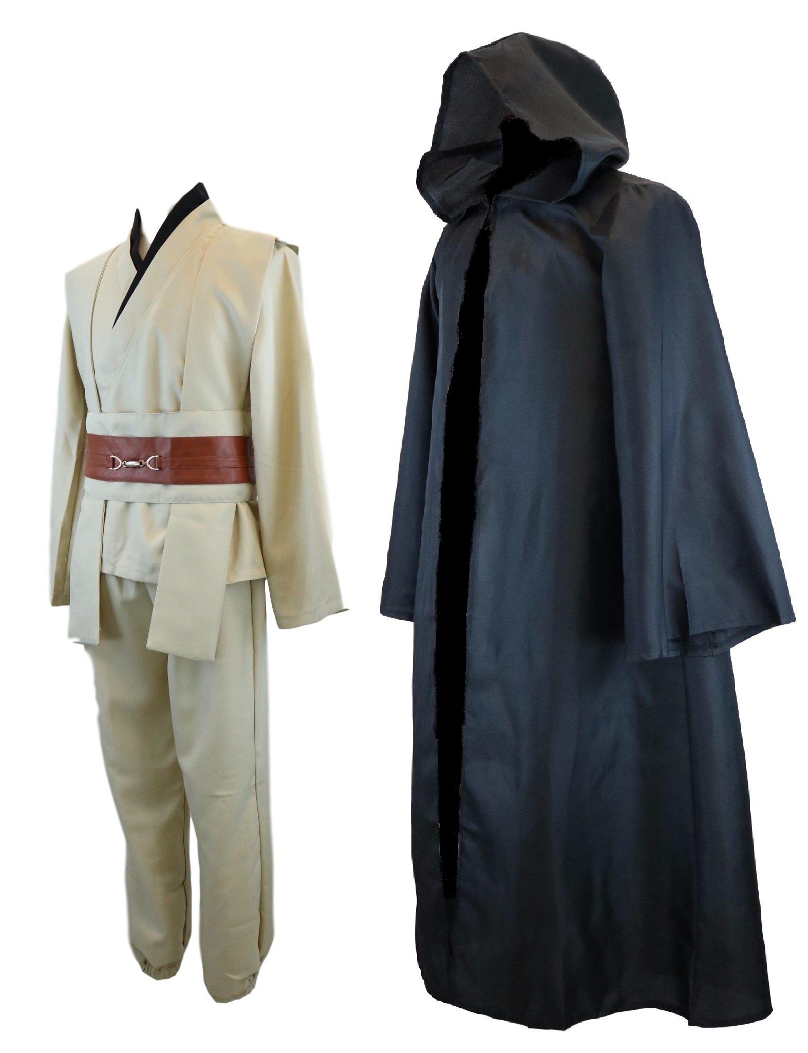 Hideaway Star Wars Jedi Style Robe Costume [ Black Version ] Anakin, OBI-Wan, Luke Cosplay Set (S) by Hide Away (Image #1)