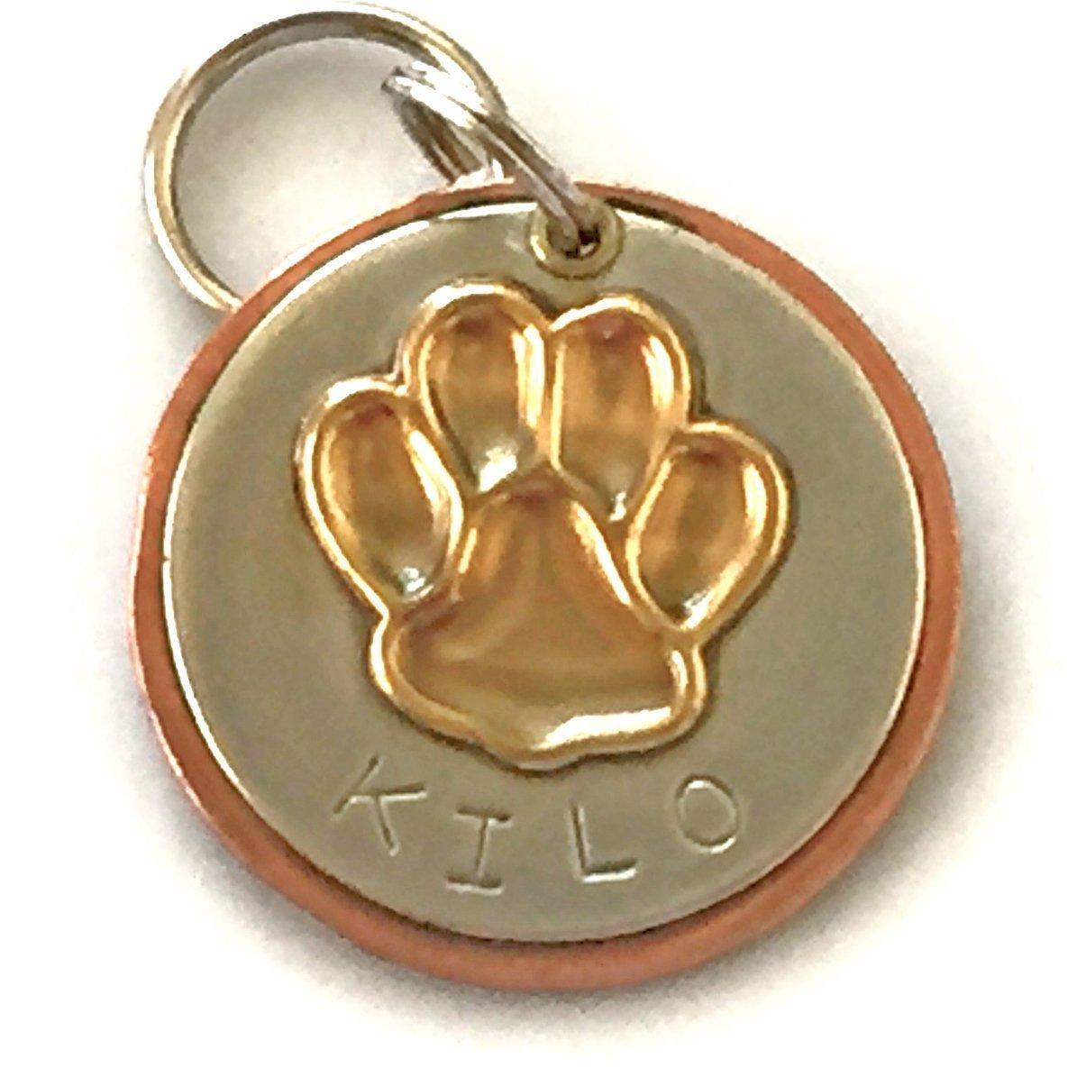 Personalized Pet ID Tag - Kilo - Dog Paw
