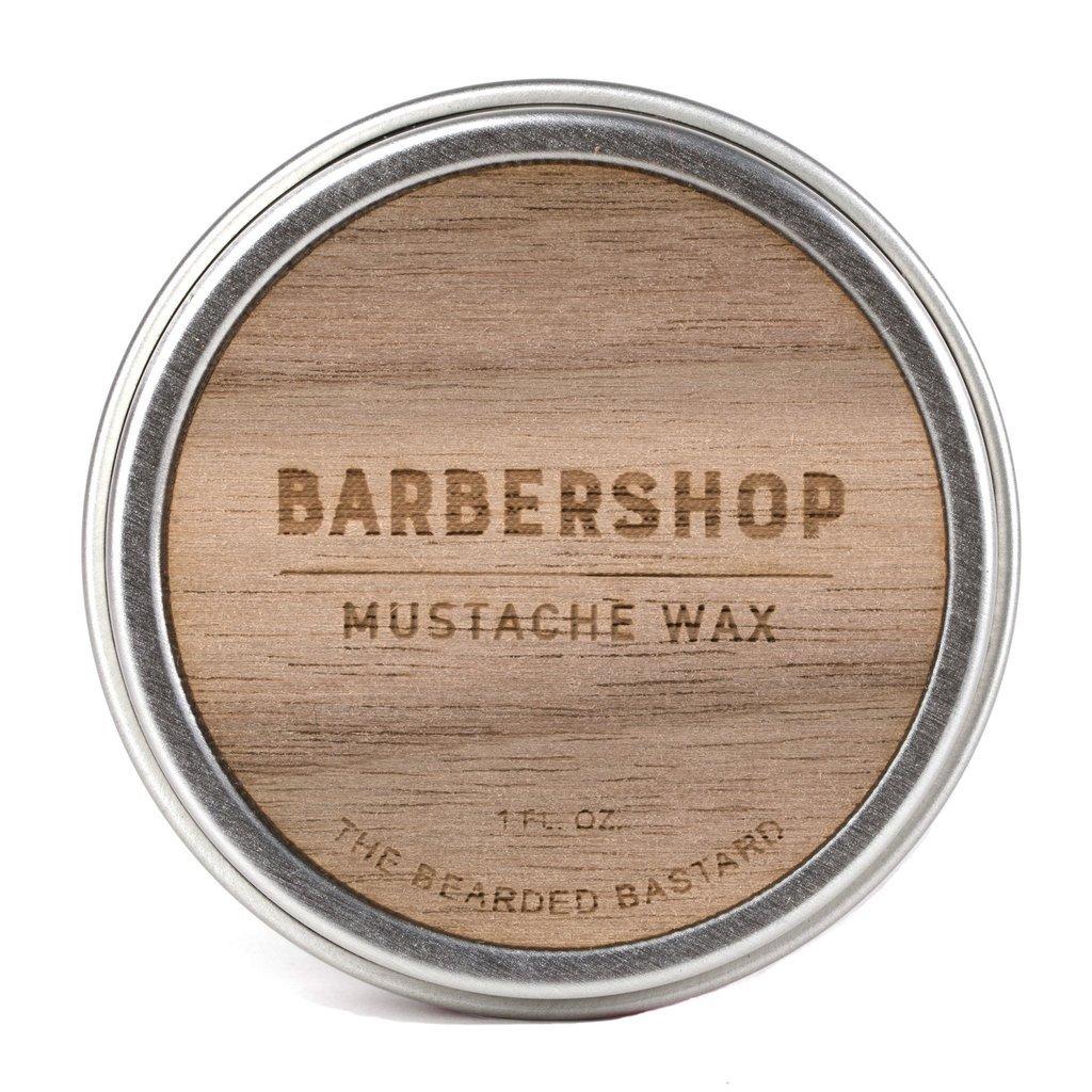 Barbershop Mustache Wax by The Bearded Bastard — Natural Mustache Wax (1 oz)