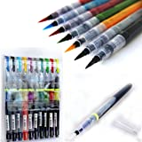 KABEER ART 10 Colors Brush Pen Watercolor Calligraphy Drawing Painting Tool Marker