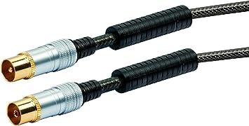 Schwaiger - Cable de Antena (núcleo de ferrita, 110 dB, 1,5 m ...