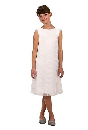 ceb27927b338 Verasposa® Robe de Communion délicate en dentelle Kim Fille Courte Blanche
