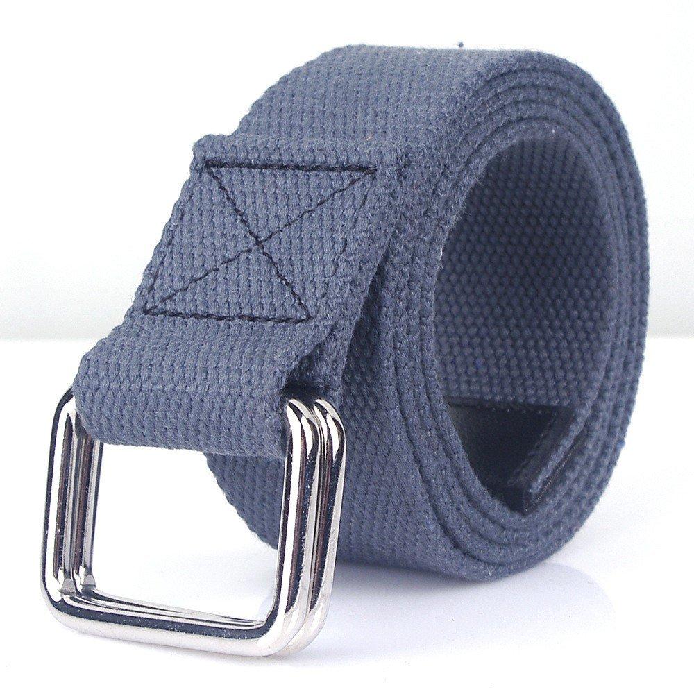 10 colori degli uomini e delle donne cintura universale di tela casual business jeans doppio anello fibbia della cintura per il tempo libero all'aperto C 110CM