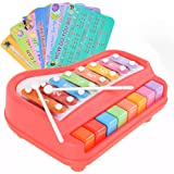 Baoli 2-in-1 Piano/Xylophone Music Toy (Red)