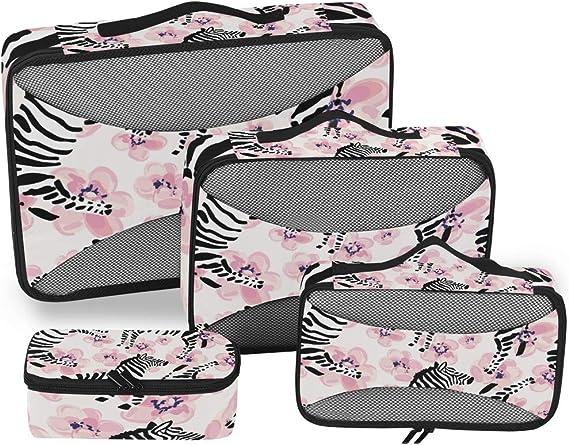 Vinlin - Juego de 4 Cubos de Embalaje, diseño de Cebra, Bolsa de ...