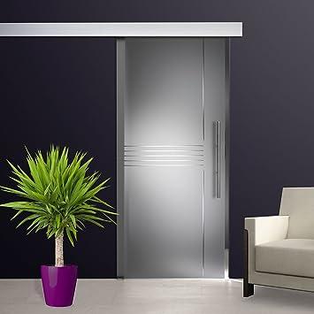 ST 685 para puerta corredera de cristal 1025 x 2050 x 8 mm DIN izquierda Satinato