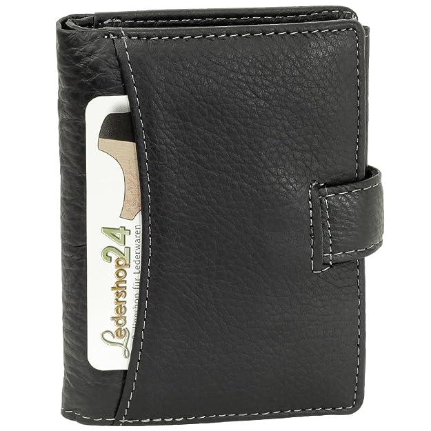 Cierre cartera monedero cartera de piel para hombre (negro): Amazon.es: Zapatos y complementos