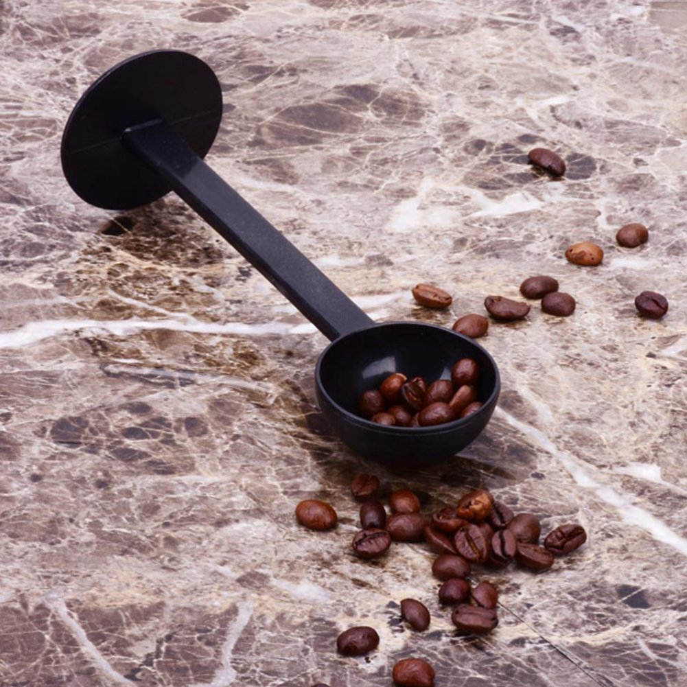 Sello de Espresso Cuchara medidora de caf/é Xpccj Vaso de Bebida cafetera Multifuncional Cuchara de caf/é Pro Kitchen PP 2 en 1 Cuchara de presi/ón 15,5 cm Accesorios para m/áquina de caf/é