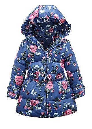 cheap for discount 2c9b2 08f6e Yiling-Winterjacke - Daunenjacke - Mantel mit Blumen für Mädchen - In  verschiedenen Farben und Größen