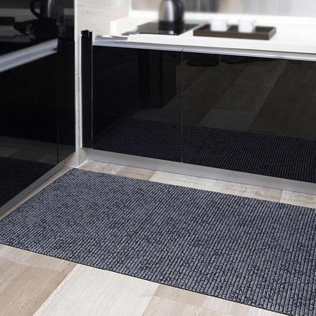 PVC plastic Foaming Non-slip carpet Kitchen mats Bathroom mats , grey , 65*200cm MIAO