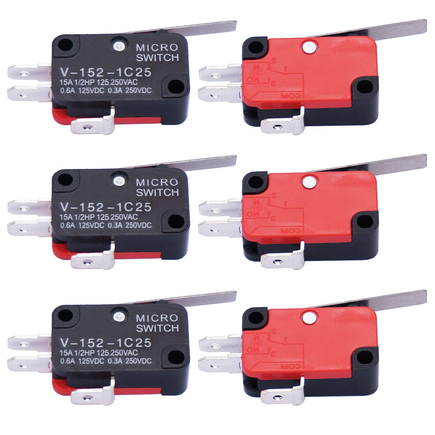 Straight Hinge Lever AC DC Micro Switch Limit Switch V-152-1C25