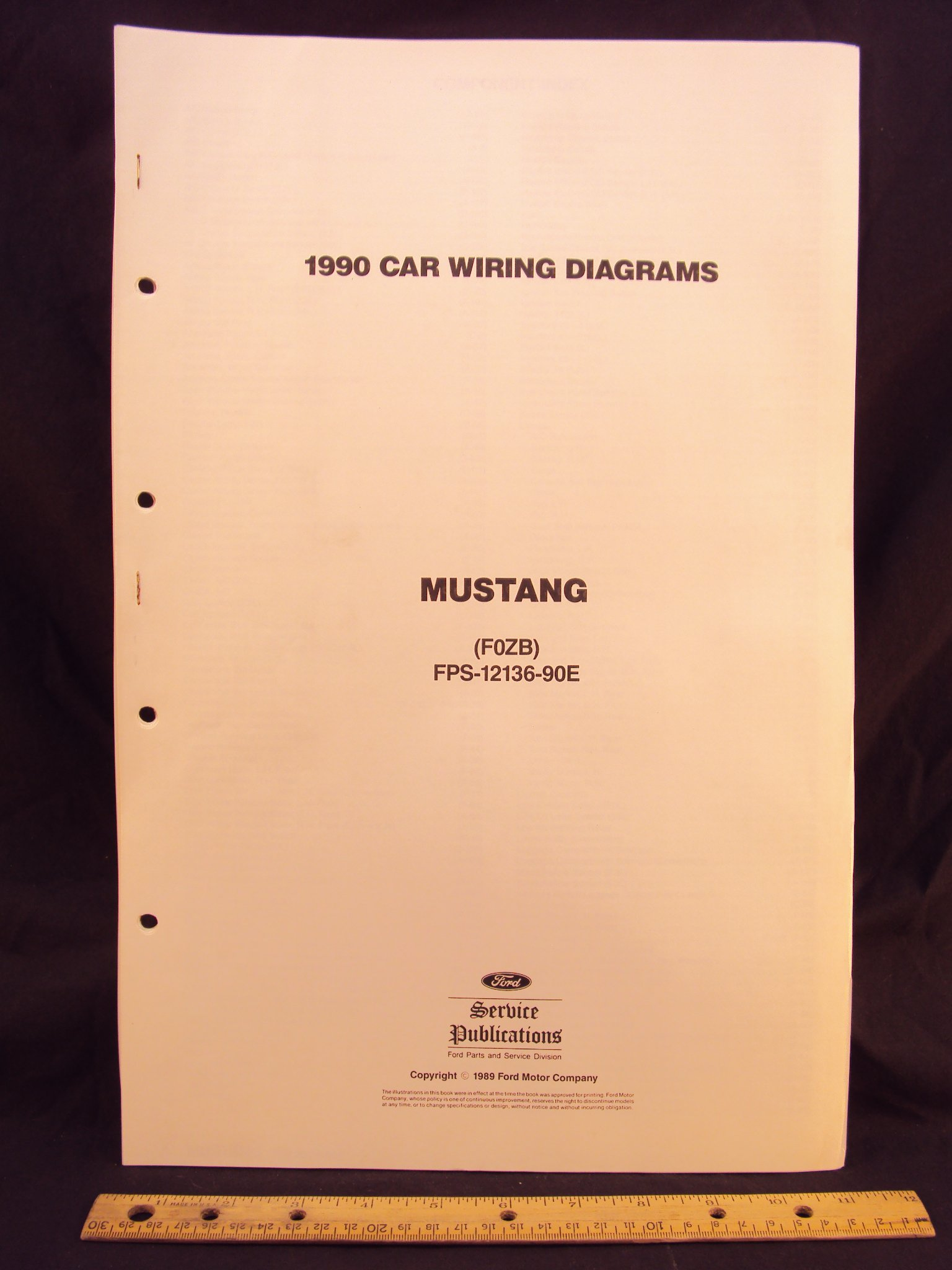 1990 Ford Mustang Electrical Wiring Diagrams Schematics Ford Motor Company Amazon Com Books