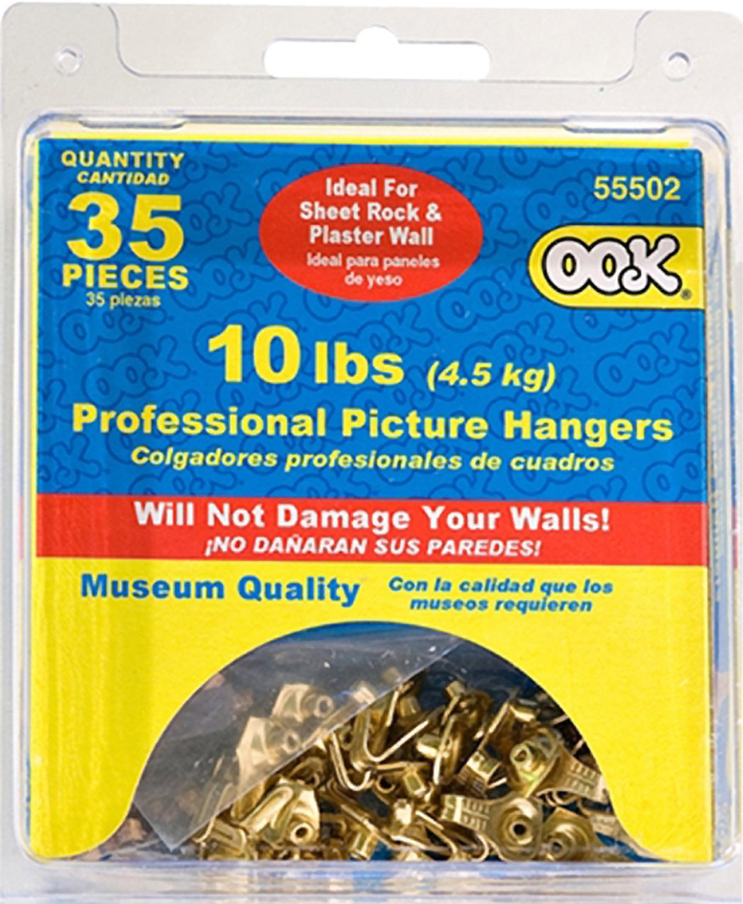OOK by Hillman 535888 Professional Brass Finished Picture Hangers 10LB Pack of 35 The Hillman Group