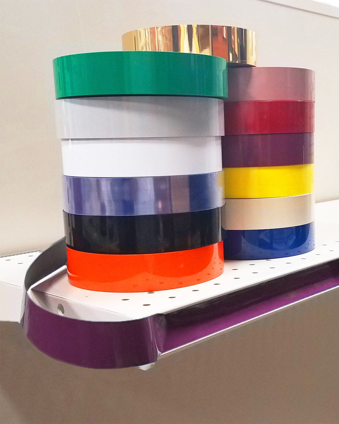 Decorative Gondola Shelving Vinyl Insert for Ticket Channel 130 FT. x 1.25 in. - 5 Pack, Wineberry
