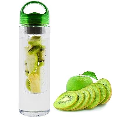 Infuseur à fruits 700ml Bouteille d'eau Sport Santé d'infusion amovible jus Cafetière Anti-Goutte Bec d'hydratation de Sport Bureau Camping Voyage
