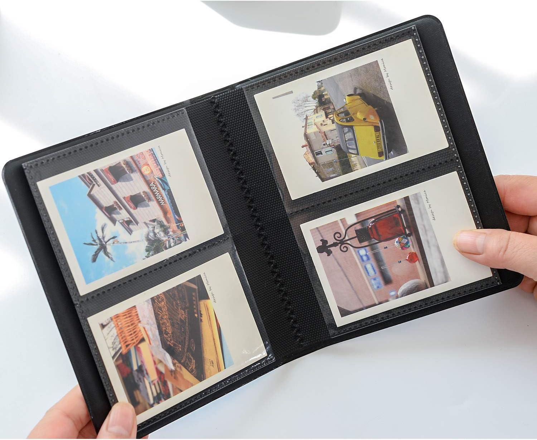 Ablus 64 Pockets Mini Photo Album for Fujifilm Instax Mini 7s 8 8 64 Pockets Retro, Brown 9 25 26 50s 70 90 Instant Camera /& Name Card /…