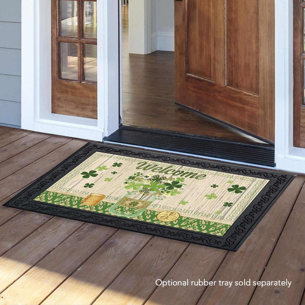 Briarwood Lane Lucky Clovers St. Patrick s Day Doormat Shamrocks Indoor Outdoor 18 x 30