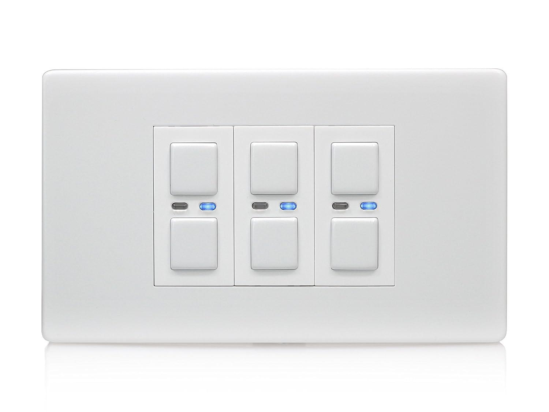 Lightwave 1 Gang Master Light Dimmer Switch - White: Lightwave ...