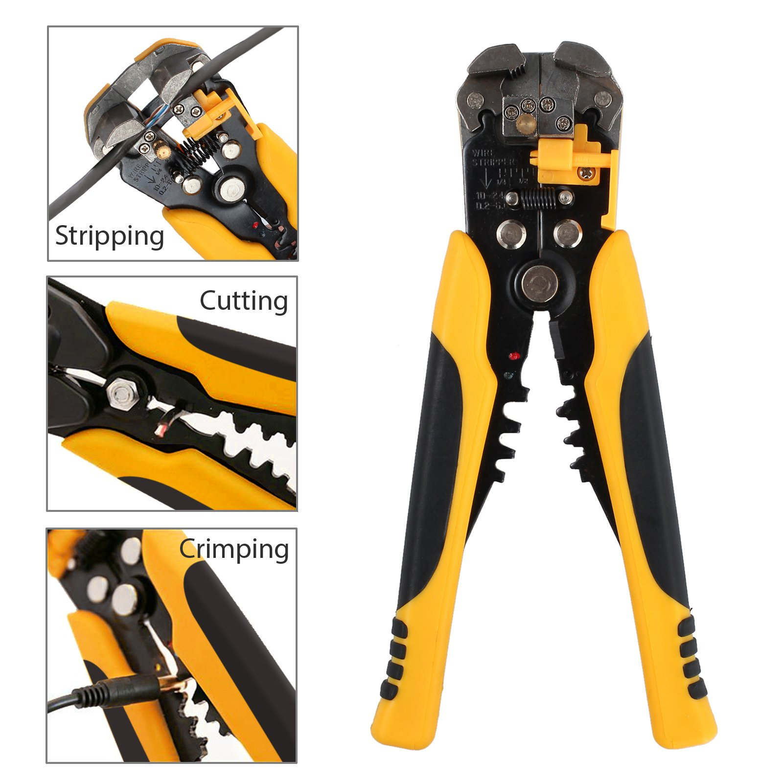 Proxima Direct Cable Crimper Wire Stripping Plier Tool Set Automatic Wire Stripper Crimper Cutter Cable Stripping Cutting Crimping Multifunctional Pliers 0.2-6 mm ² by Proxima Direct (Image #3)