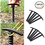 Betan Strong Plastic Screw Spiral Tent Peg Stakes Nail Outdoor Camping Awning Trip(Pack of 10)