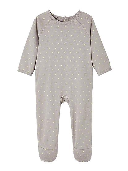 VERTBAUDET Lote de 2 pijamas para bebé de algodón con automáticos en la espalda Lote Marfil