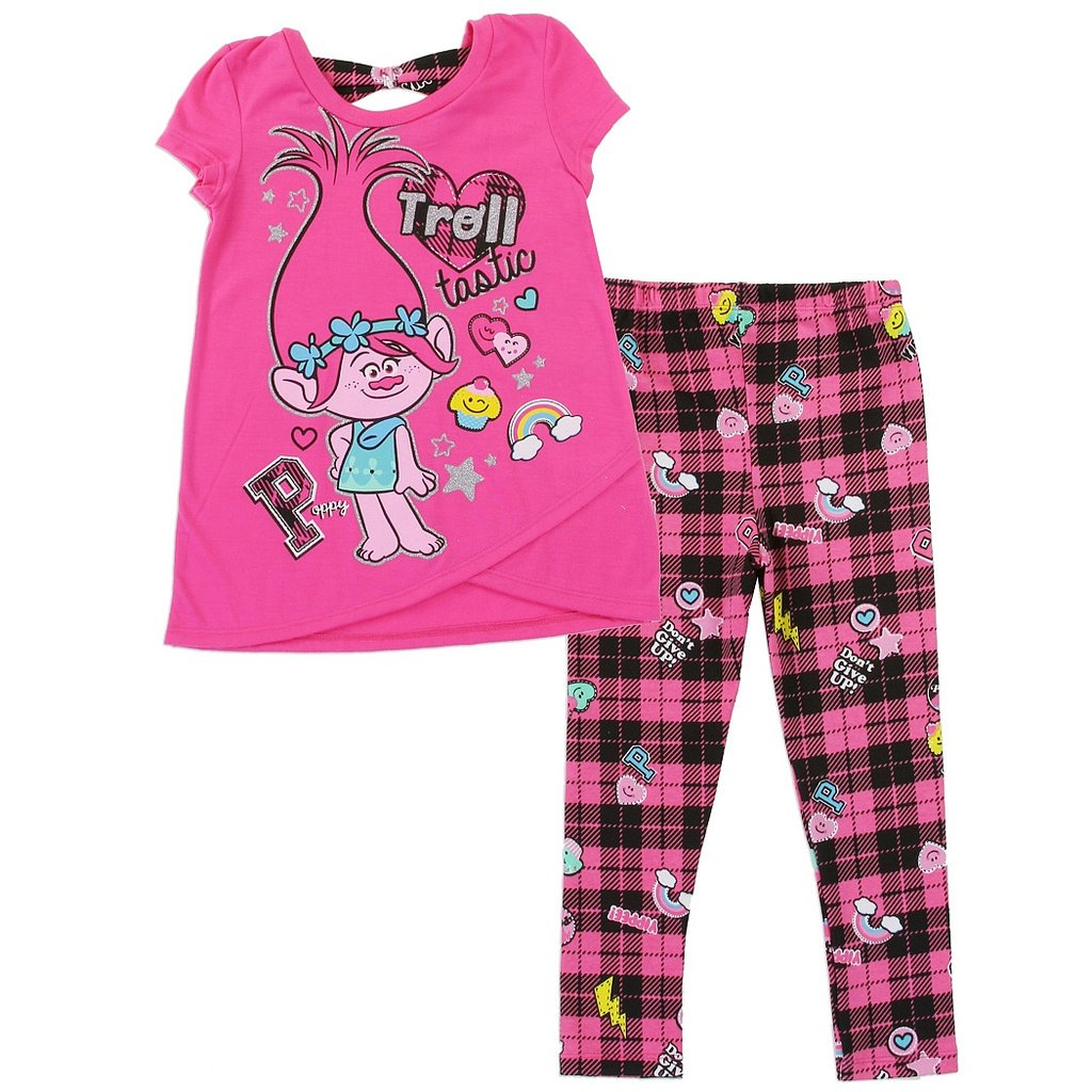 Trolls Girls Poppy Top /& Leggings Set