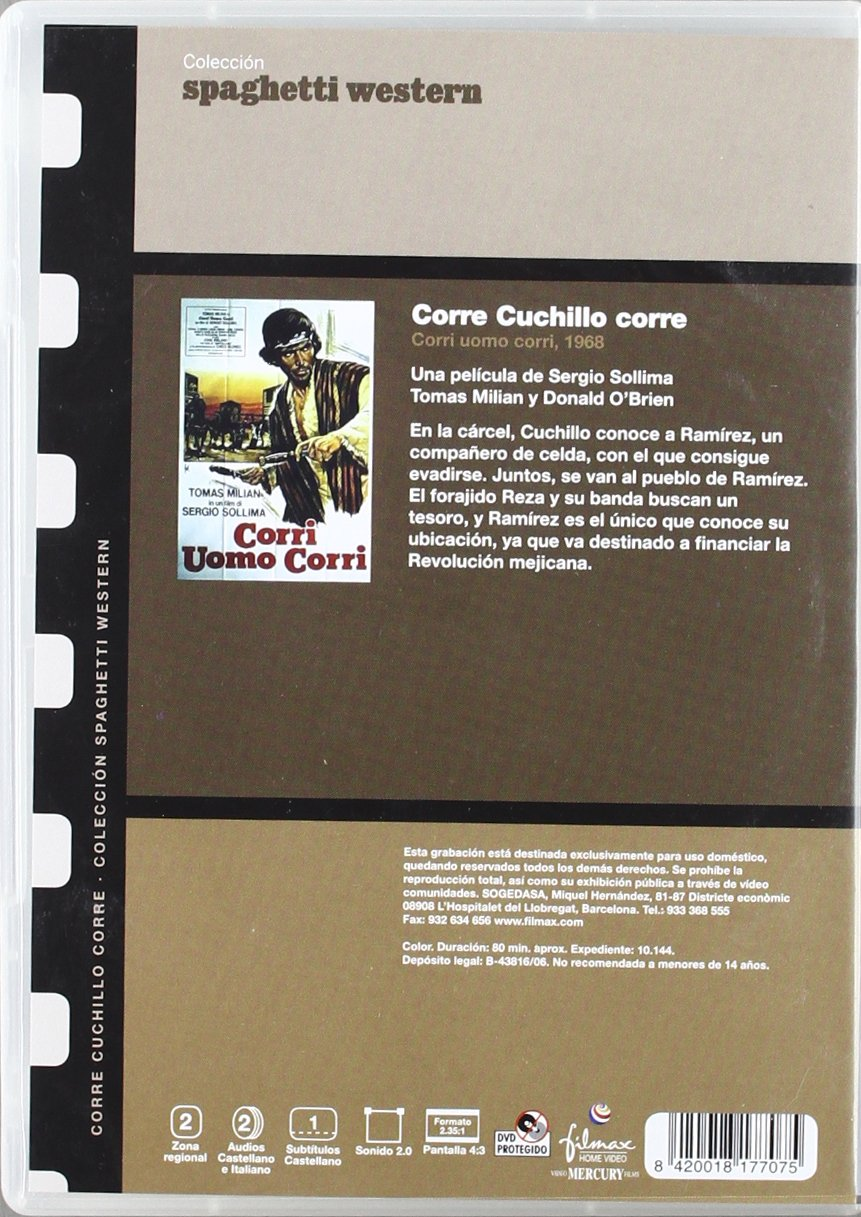 Amazon.com: Corre Cuchillo Corre (Import Movie) (European ...