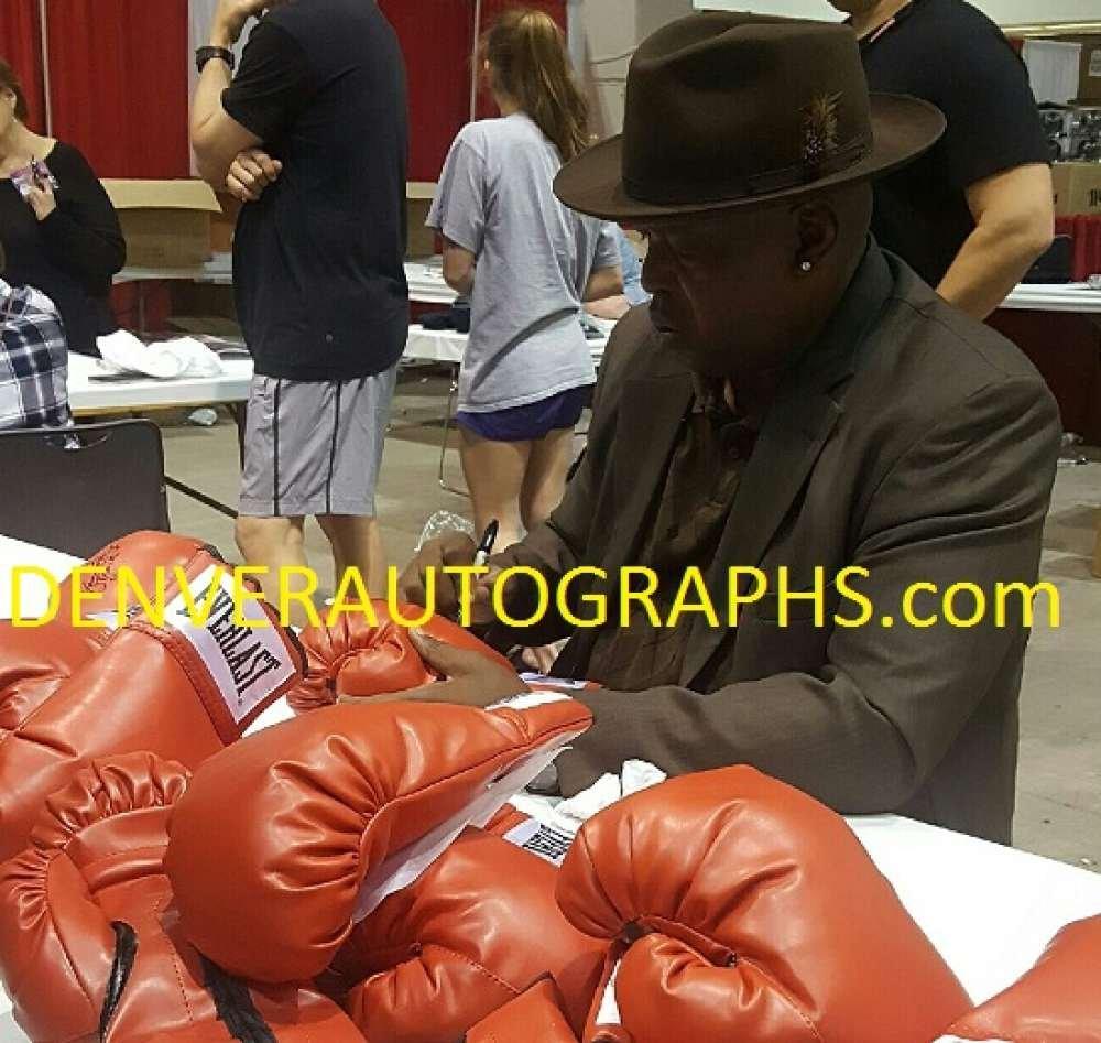Buster Douglas Autographed/Signed Red Left Boxing Glove JSA