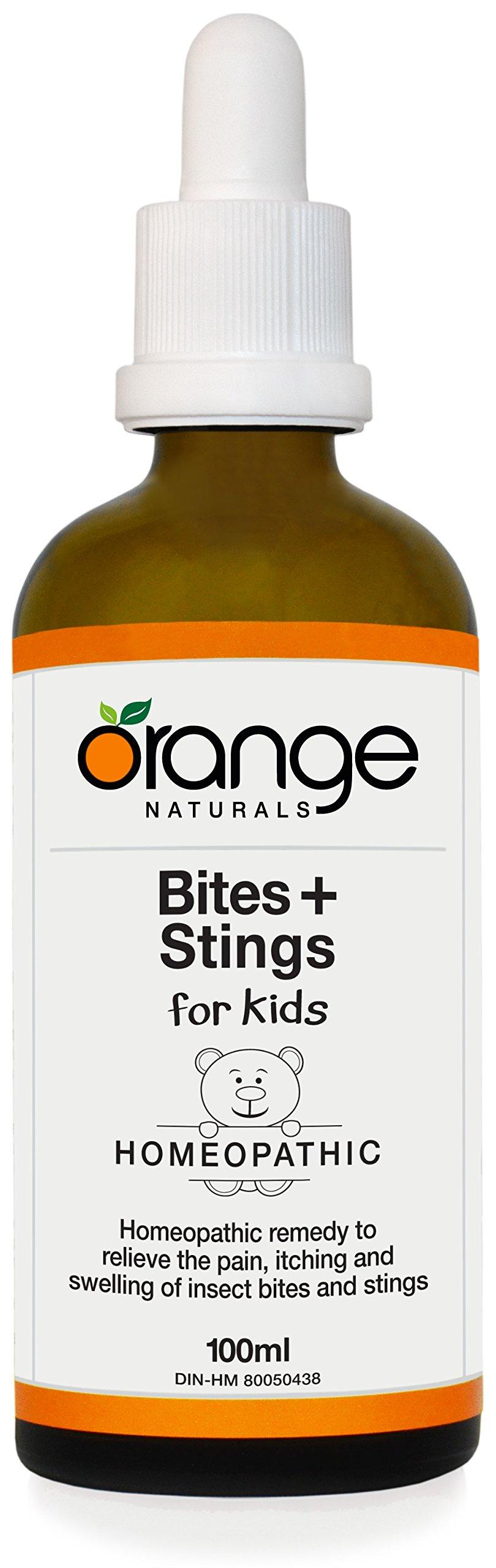 Orange Naturals Homeopathic Bites + Stings for Kids, 100 ml