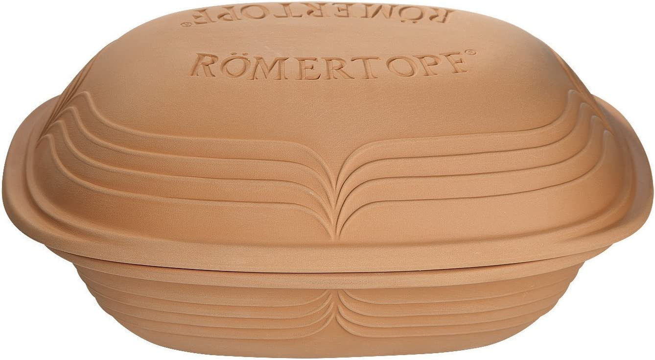 Romertopf by Reston Lloyd Modern Series Natural Clay Cooker, 3.1-Quart
