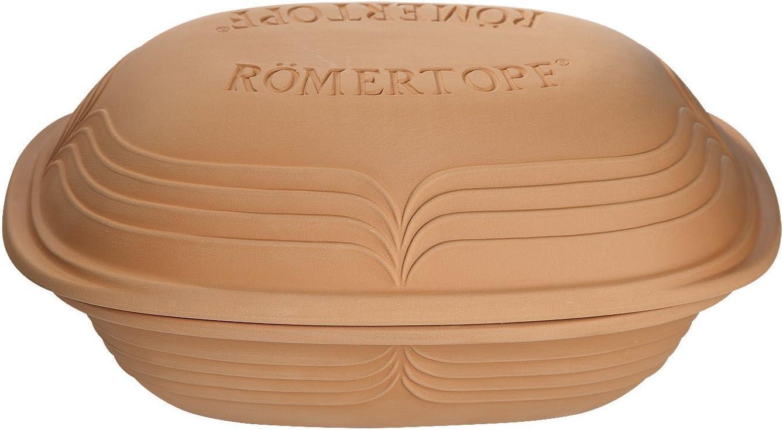 Romertopf by Reston Lloyd Modern Series Natural Clay Cooker, 3.1-Quart