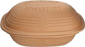 Romertopf Clay Pot, 4.1 Quart, Tan