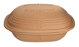 Romertopf by Reston Lloyd Modern Series Natural Glazed Clay Cooker, 4.1-Quart, Large