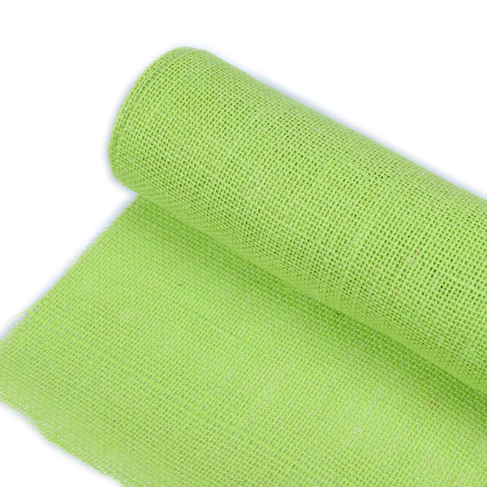Yamalans 13 Colors Burlap Fabric Ribbon Roll DIY Sewing Craft Tablecloth Chair Sash Bow DIY Sewing Craft Decor Red 50cm x 3m