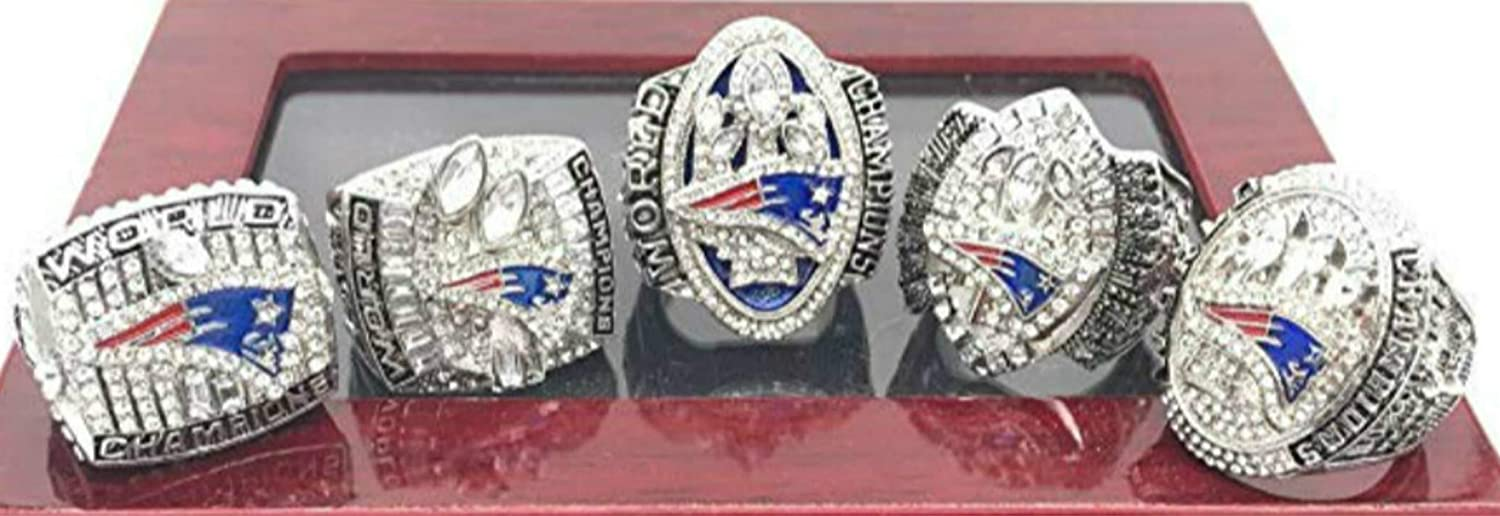 Clothing, Shoes & Jewelry HASTTHOU 2019 New England Patriots Championships Ring Collectible Gift with Box