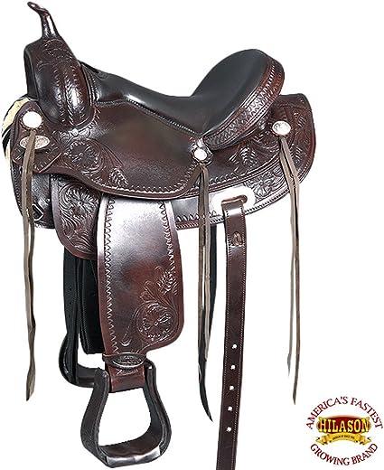 15 In Great American Western Leather Horse Saddle Barrel Racing Trail U-N-15