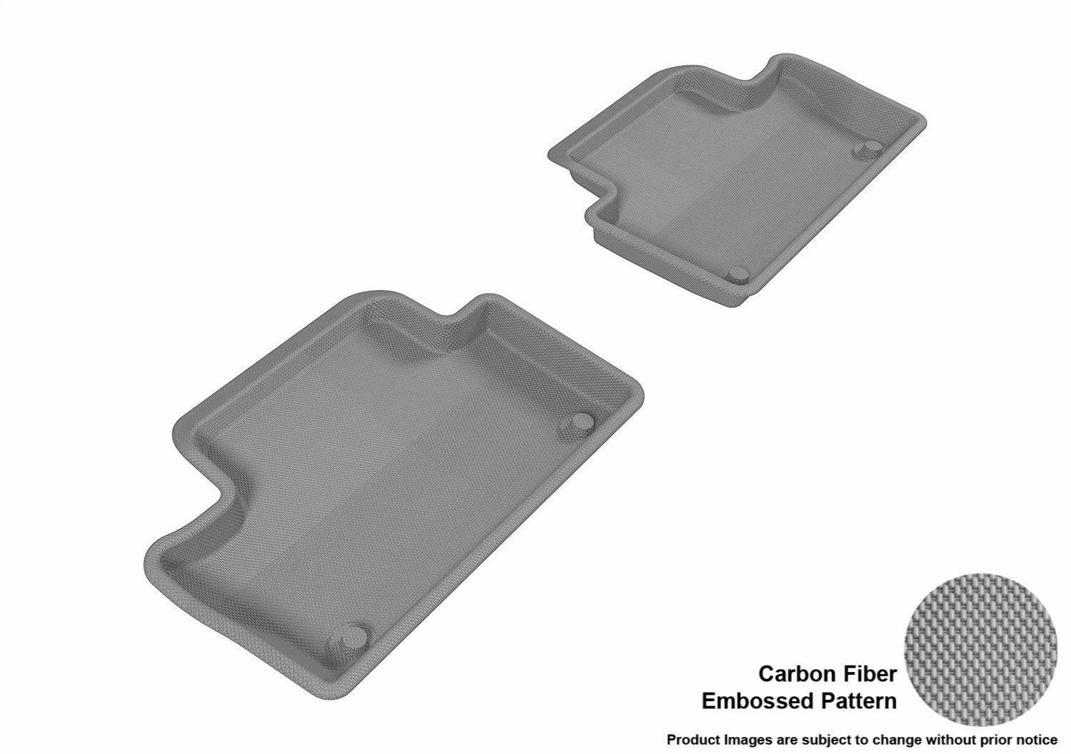 Kagu Rubber Gray 3D MAXpider Complete Set Custom Fit All-Weather Floor Mat for Select Volvo XC60 Models