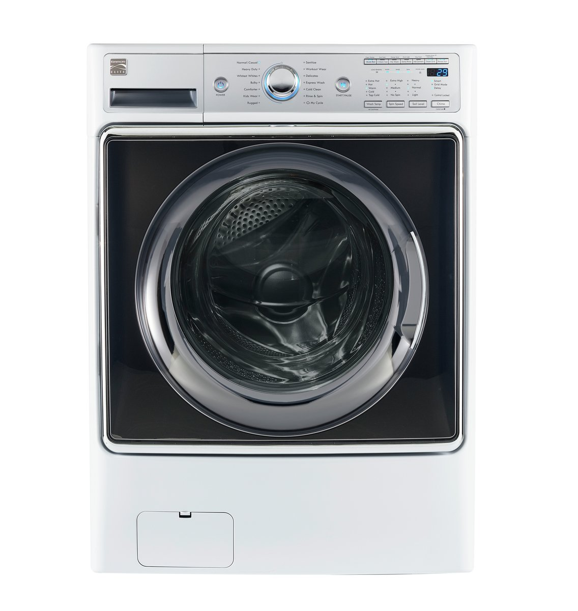 Kenmore Smart 41982 5.2 cu.ft. Front Load Washer with Accela Wash Technology in White  - Works with Amazon Alexa, includes delivery and hookup (Available in select cities only) by Kenmore