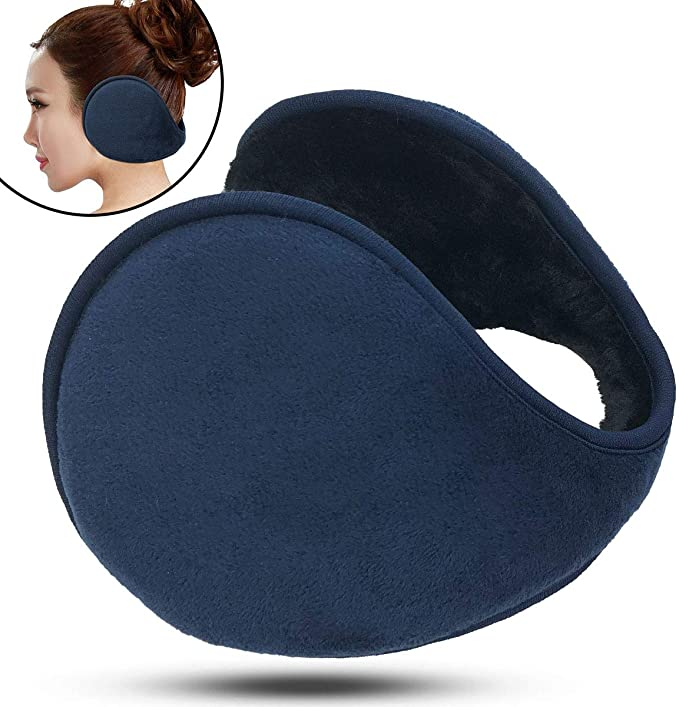 Winter Ear Muffs Unisex Classic Earmuffs With Earholes Soft Plush Covered Pads Wrap Earmuffs Ski Winter Outdoor Ear Warmer Fleece Ear Muffs Warm Earmuffs