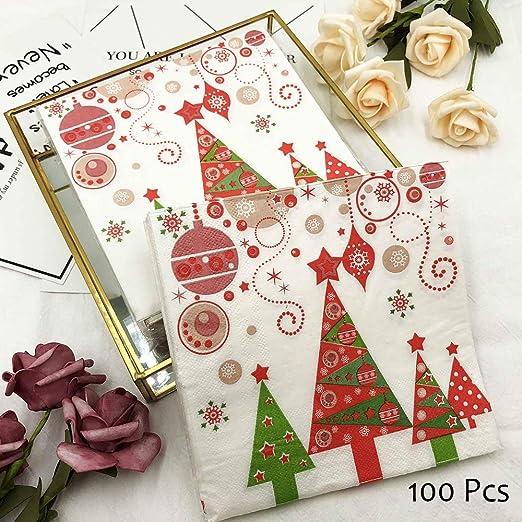OYPA Servilletas de Navidad, servilletas de Mesa Impresas con ...
