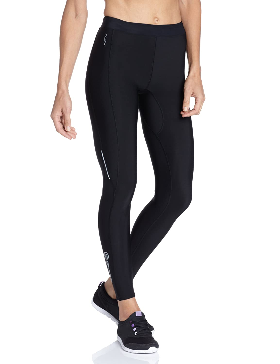 SKINS Women's A200 Thermal Compression Long Tights, Black/Black, Small B61033111FS