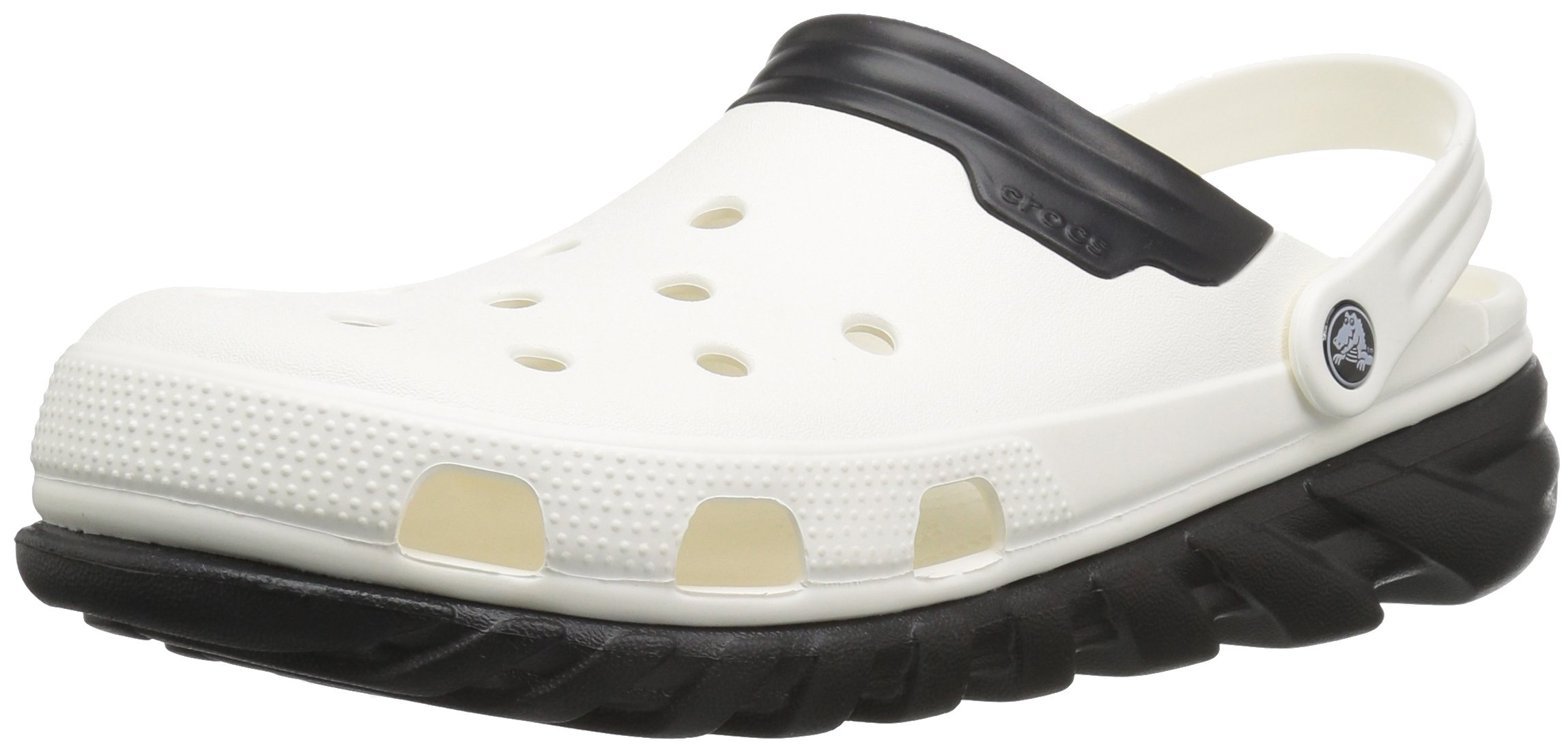 29370a89d0d39f Crocs Unisex Duet Max Clog White Black 9M US Men   11 M US Women
