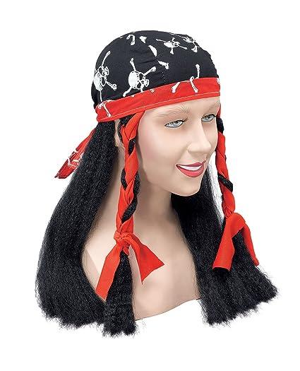 NEW JACK SPARROW PIRATE BANDANA & WIG UNISEX (peluca)