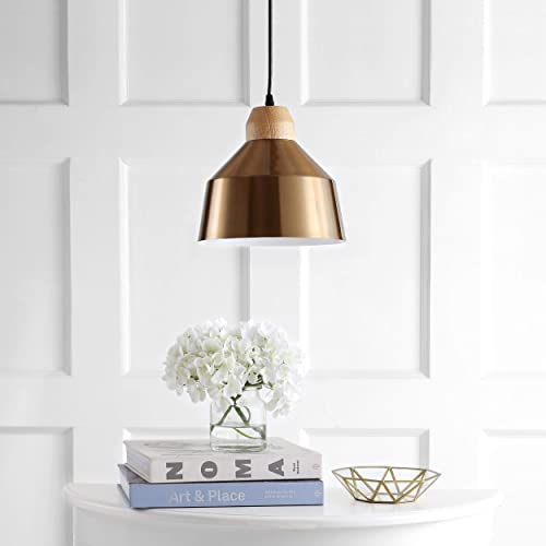 Safavieh PND4031C Home Collection Dajana Brass Gold Brown Pendant Light