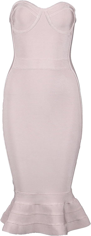 a fascia ideale per feste Shownice vestito da sera aderente senza spalline