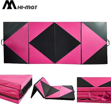 "4/'x6/'x2/"" Gymnastics Aerobics Exercise Yoga Folding Mat Fitness Tumbling"